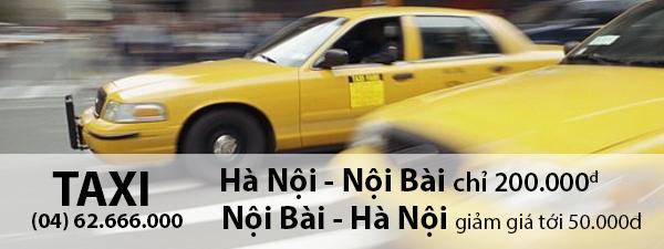 Taxi Noi Bai giá rẻ chuyên tuyến chỉ 200.000đ
